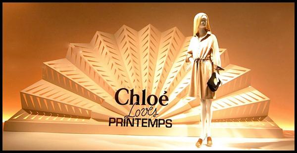 巴黎春天百货Chloé橱窗陈列