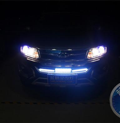 上海奇瑞瑞虎5改装氙气灯  蓝精灵改灯  小糸Q5双光透镜