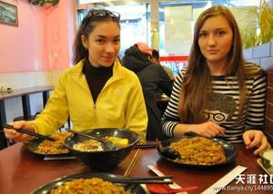 Au Pair's Food in China