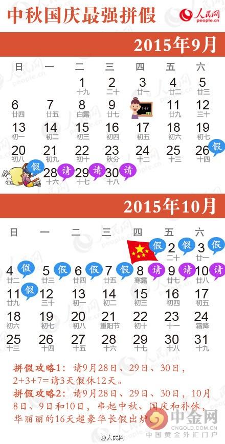 国庆节放假安排2015 国庆加班费怎么算