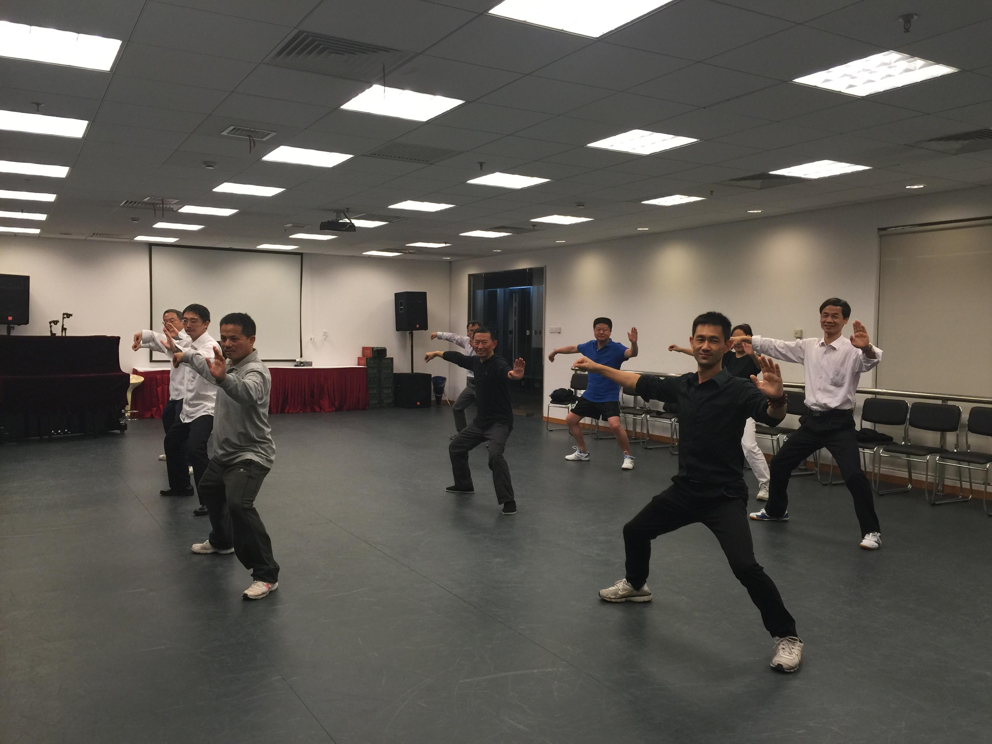 上海公司企业团体太极拳气功瑜伽健身课