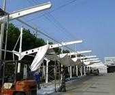 上海东海别墅私家膜结构车棚,钢结构膜结构车棚