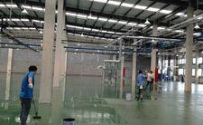 工业厂房环氧面漆滚涂施工