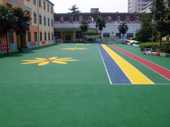 彩色EPDM塑胶地面施工效果图