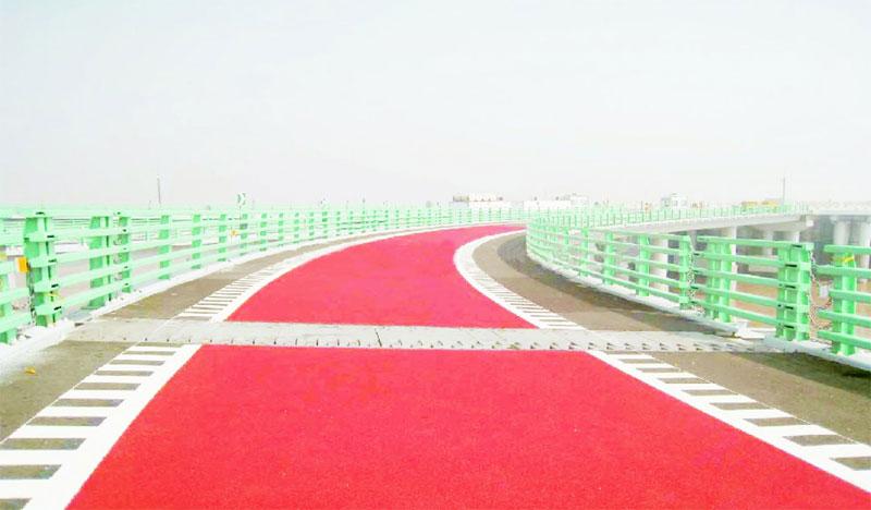彩色防滑路面施工效果图