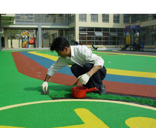 EPDM塑胶地面施工图