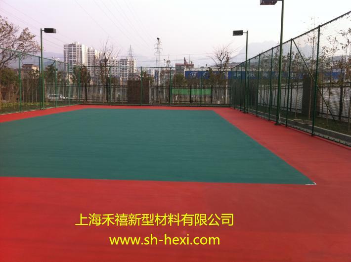 丙烯酸网球场划白线技巧