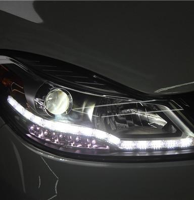 驭胜S350改大灯上海蓝精灵改装车灯 蓝精灵定制海拉五透镜氙气灯LED日行灯