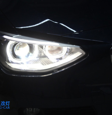 宝马1系改灯上海蓝精灵车灯改装 原装高配天使眼氙气大灯总成电脑编程