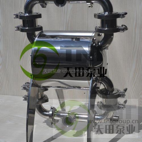 上海天田NDP型卫生级气动隔膜泵(镜面不锈钢Ra<0.5) 耐高温耐腐蚀