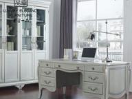 香奢一品定制家具奢华书房实木书桌法式简约写字台 flo-20