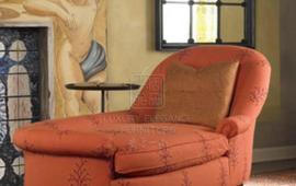 香奢一品定制家具 卧室 实木 躺椅 布艺 后现代贵妃榻RLG906