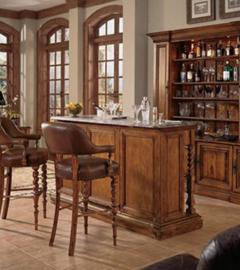 香奢一品定做家具 美式实木吧台隔断收银酒柜吧台椅BLT9-03-010