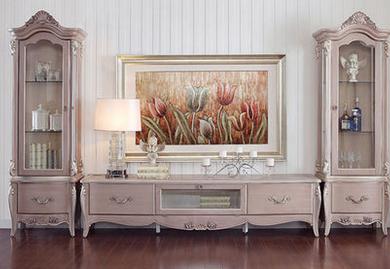 香奢一品定制家具 法式实木组合厅柜电视柜 置物柜 flo-18
