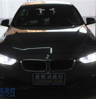 宝马3系316升级原厂高配天使眼日行灯氙气大灯总成 上海氙气灯蓝精灵车灯改装