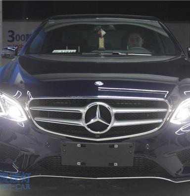 奔驰E260改装高配LED智能氙气大灯总成 电脑编程 上海氙气灯蓝精灵大灯改装