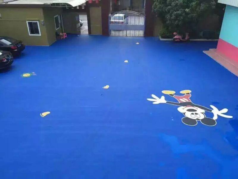 幼儿园塑胶地面效果图