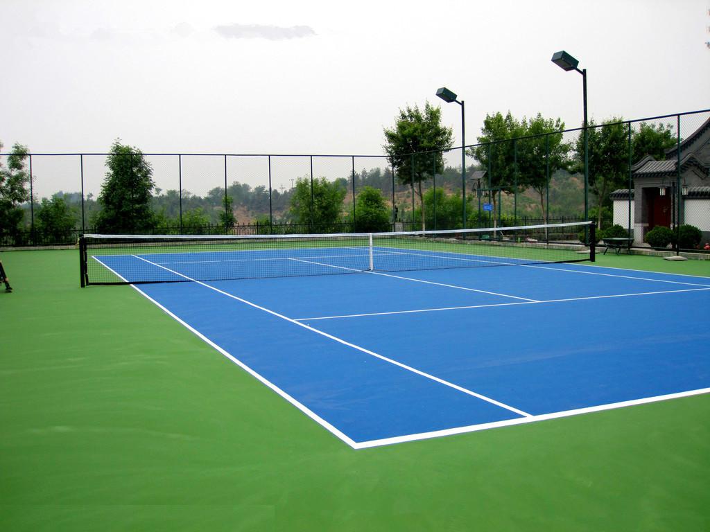 硅PU网球场效果图