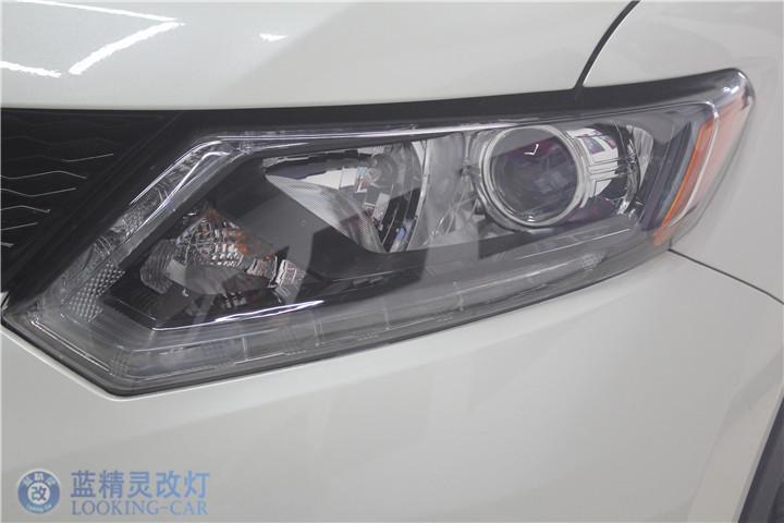 日产新奇骏改装氙气灯上海改装汽车大灯蓝精灵改装天使眼大灯总成
