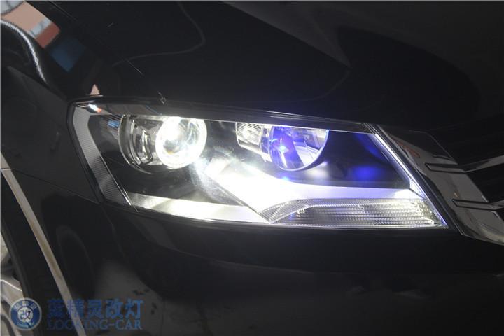 蓝精灵车灯改装