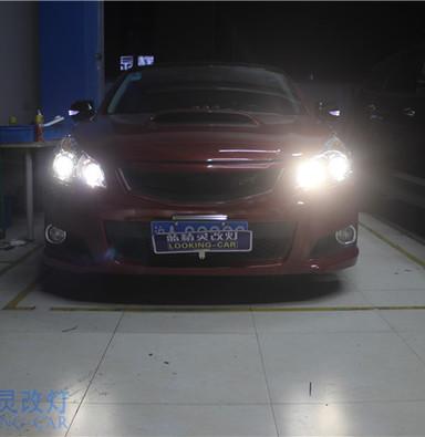 斯巴鲁力狮改装大灯总成 升级四双光透镜 上海改装车灯 蓝精灵改装氙气灯