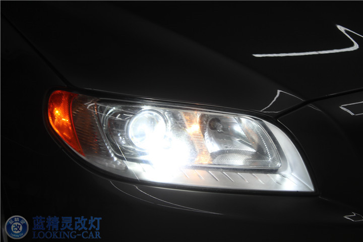 上海蓝精灵改装远光灯