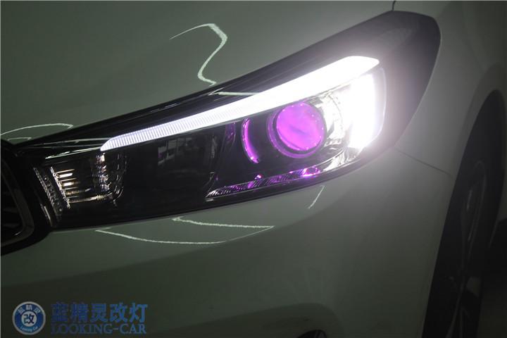 上海起亚改装大灯