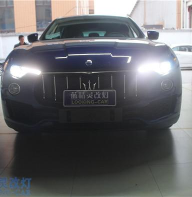 玛莎拉蒂LevanteLED车灯升级 上海改装氙气大灯 闵行蓝精灵汽车灯光升级