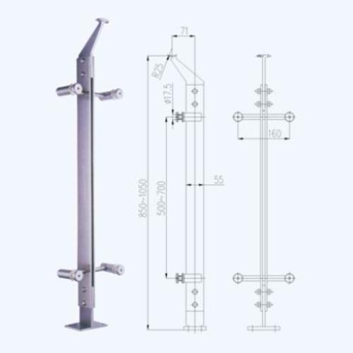 不锈钢立柱lz03