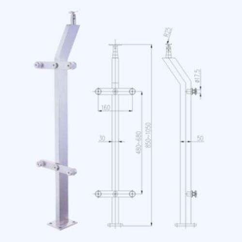 不锈钢立柱lz02
