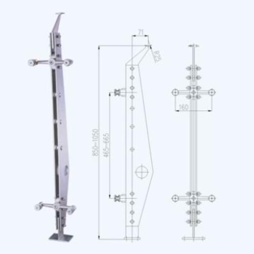 不锈钢立柱lz01