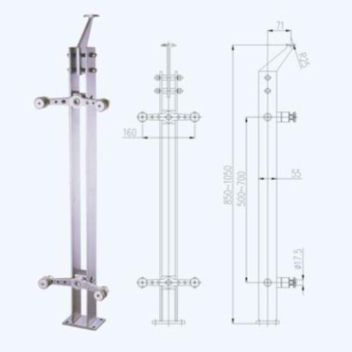 不锈钢立柱lz04