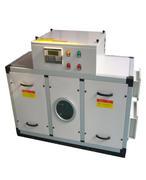 Horizontal single rotor dehumidifier
