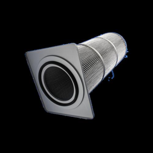 Side mounted chuck filter cartridge