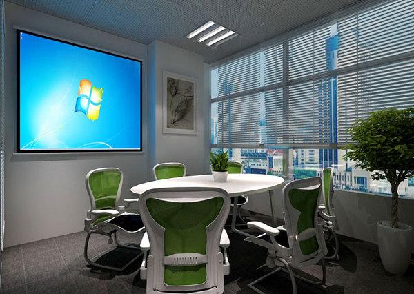 小型科技公司办公室装修设计效果图