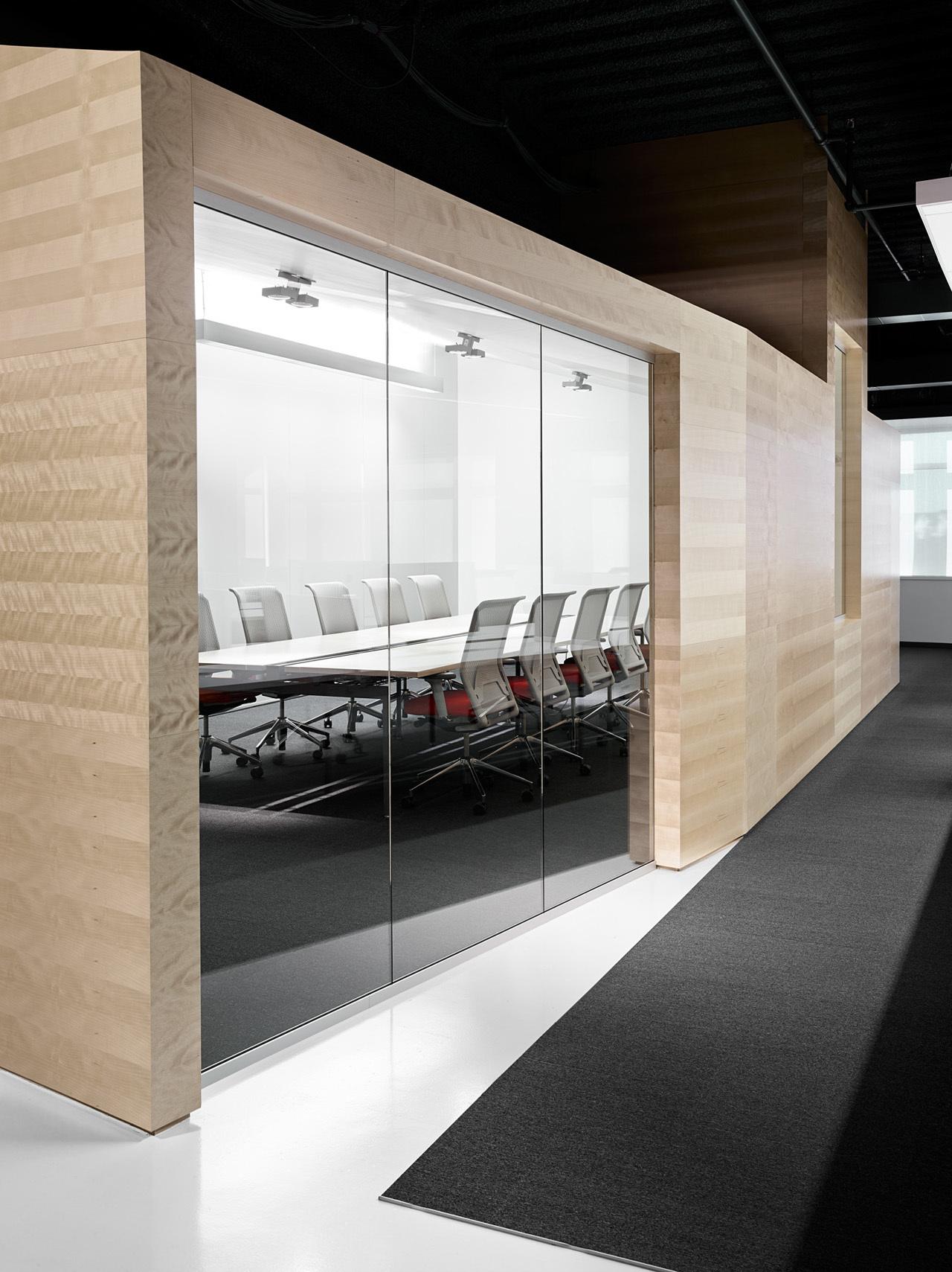 上海天波信息科技有限公司会议室办公室装修案例