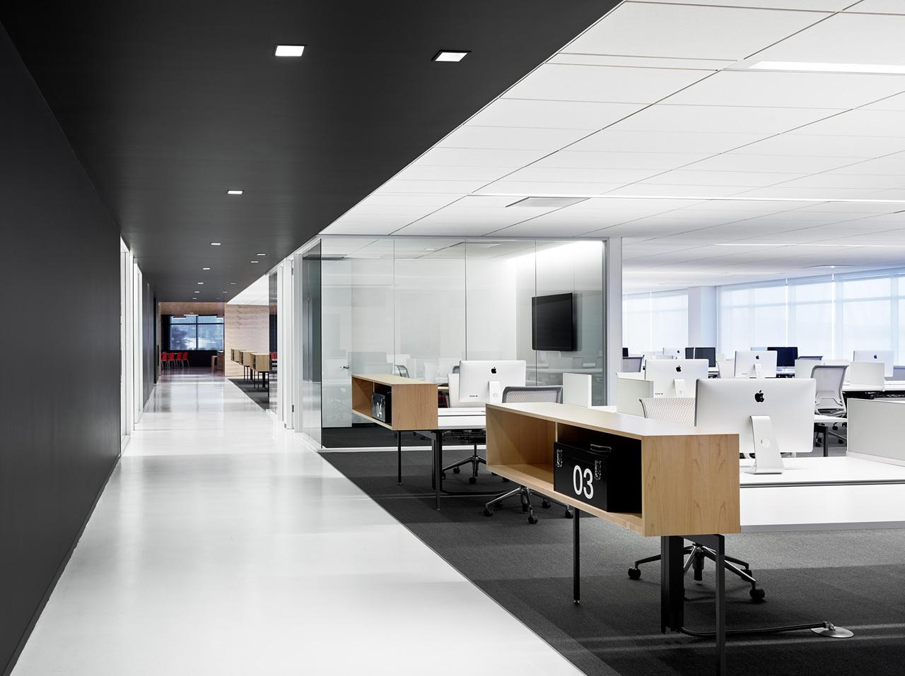 上海天波信息科技有限公司辦公區辦公室裝修案例