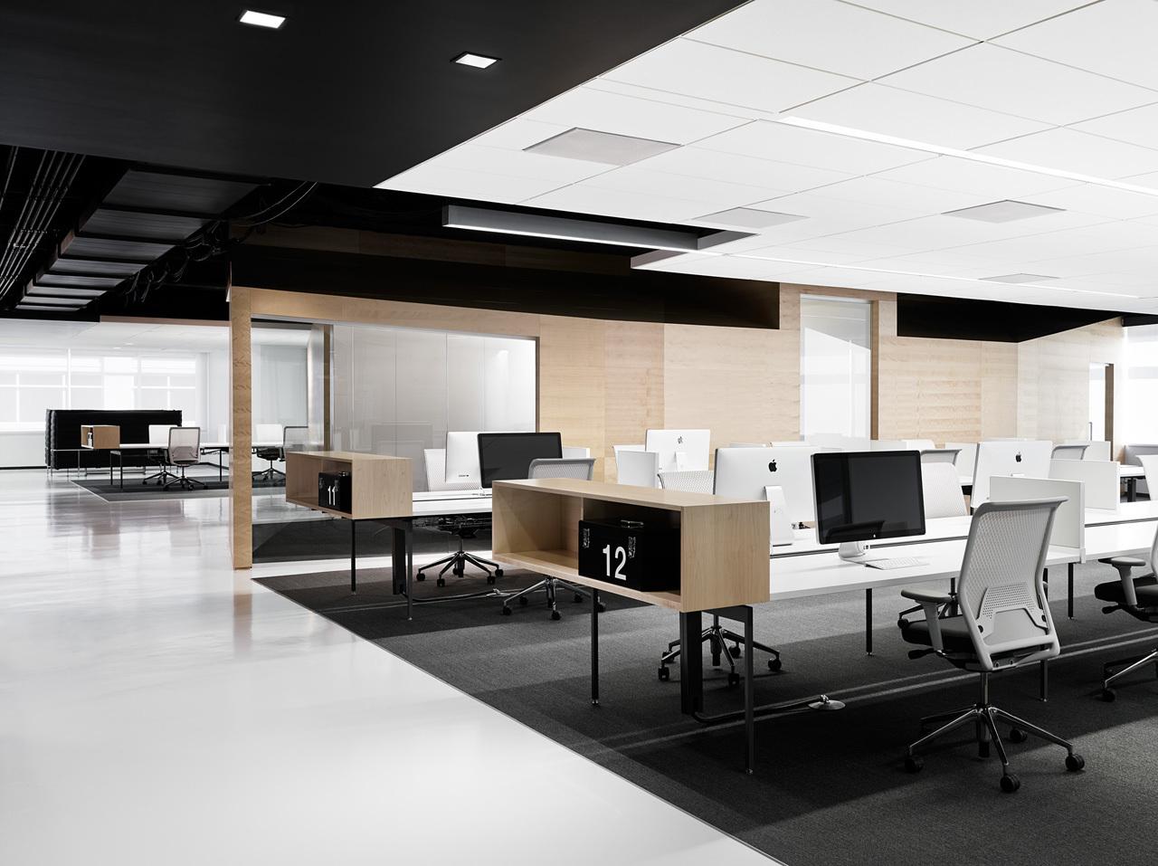 上海天波信息科技有限公司办公区办公室装修案例
