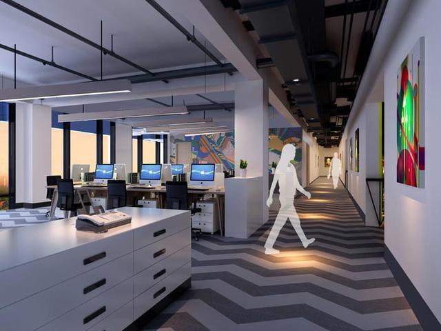 厂房办公室装修设计案例效果图