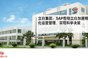 消费品行业ERP系统—立白集团SAP成功客户案例