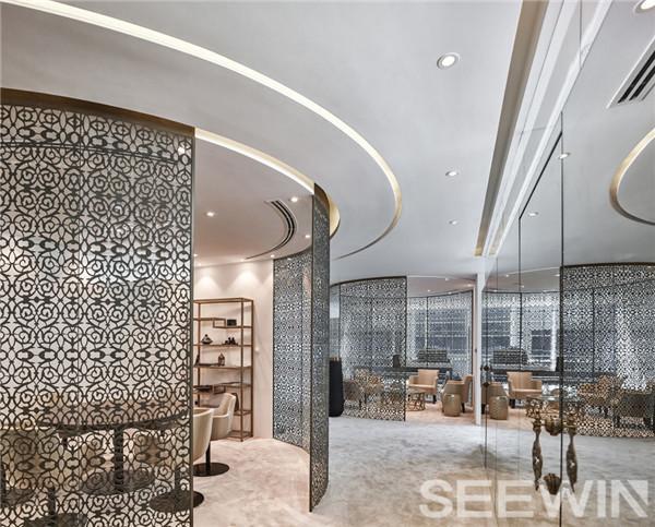 糅合摩登的阿拉伯装饰元素,打造异域风情奢华办公空间