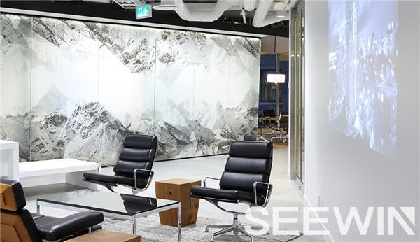 壮丽磅礴的雪山美景融于办公空间的创意设计