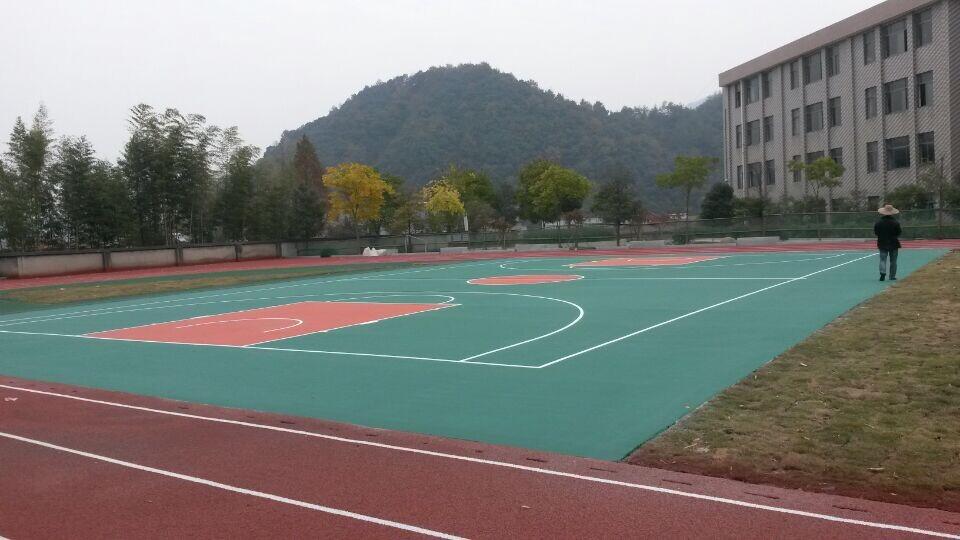 丙烯酸网球场施工效果图