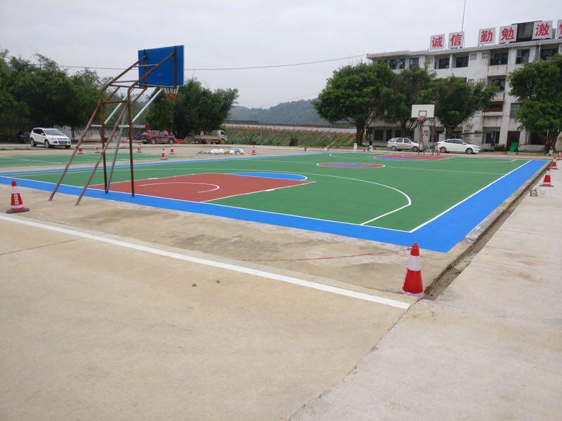 福建硬地丙烯酸篮球场