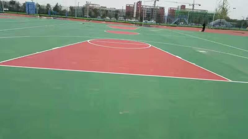 河南郑州丙烯酸球场跑道项目完工