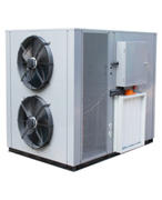Flat blowing heat pump dryer