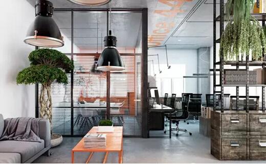 个性商务办公室装修-办公区图