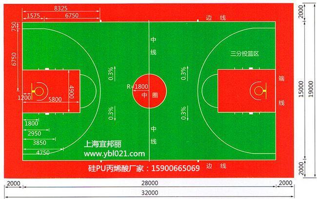 塑胶篮球场造价多少钱一个平方