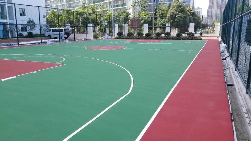 江苏无锡弹性丙烯酸篮球场
