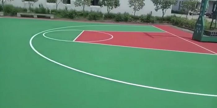杭州硬地丙烯酸篮球场